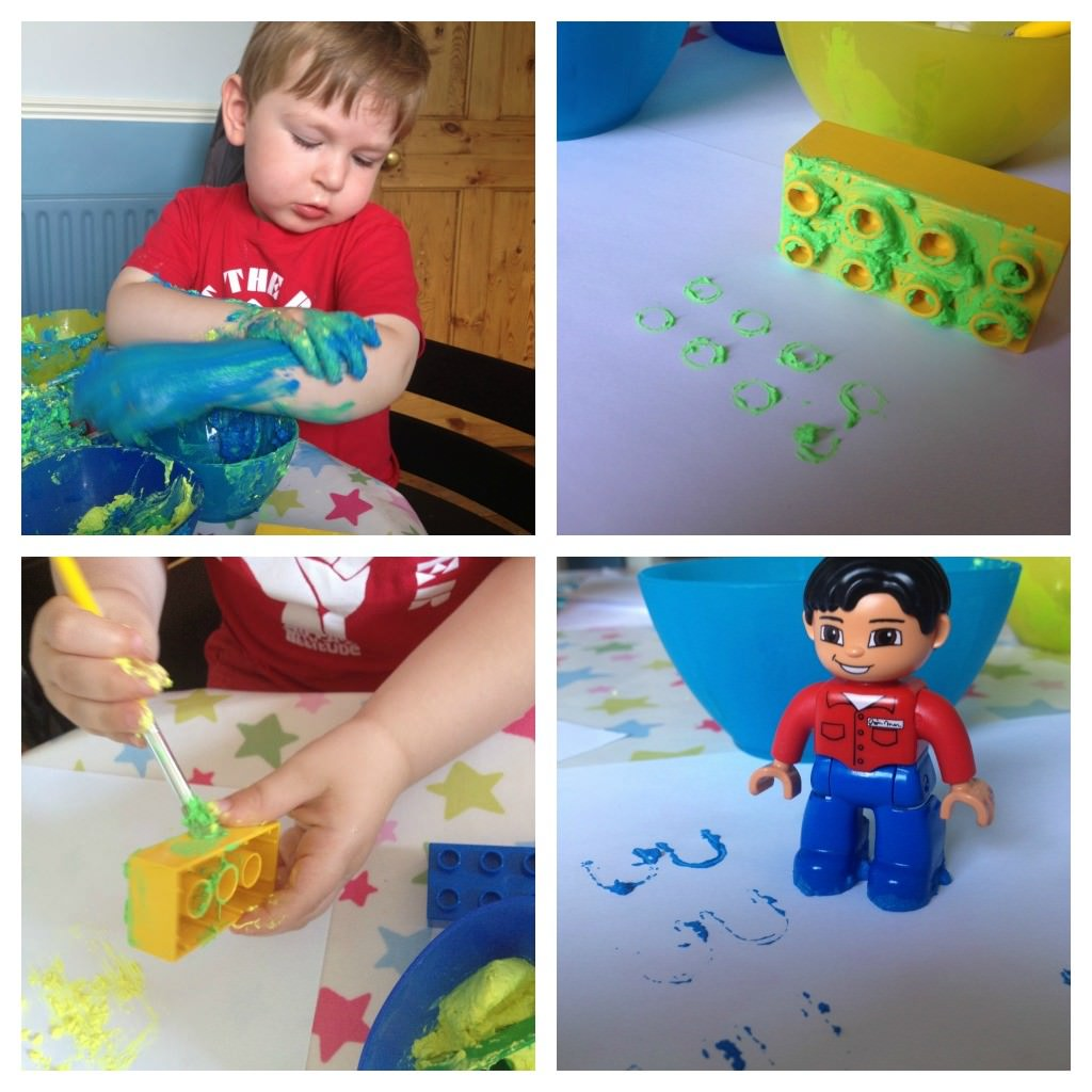 painting with lego