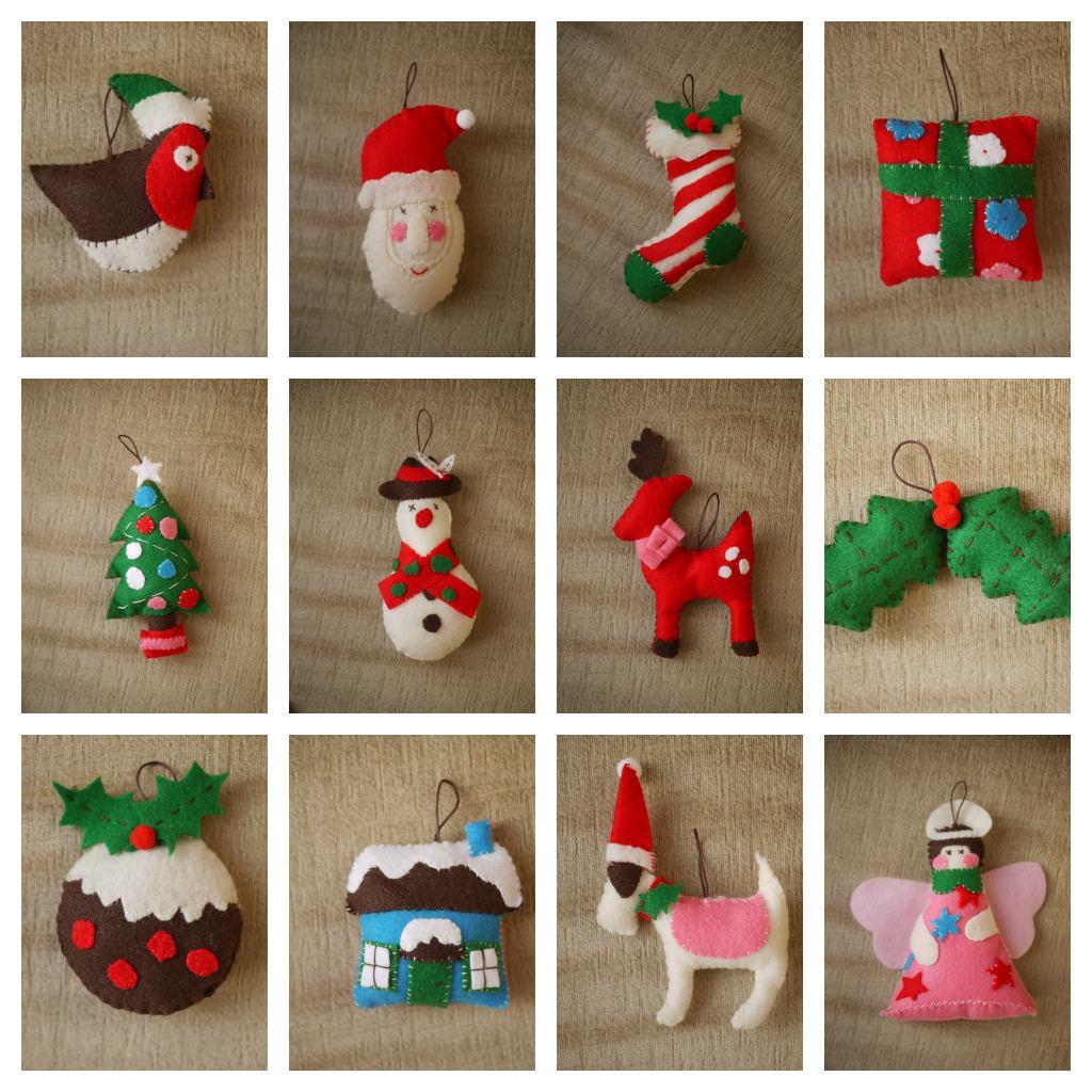 Felt Christmas Tree Decorations Uk