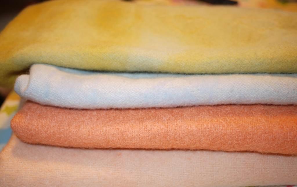 vintage dyed blankets