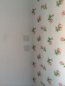 badly painted room