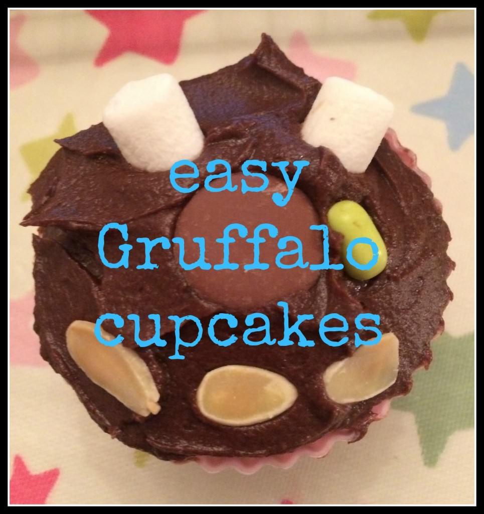 how to make gruffalo cupcak