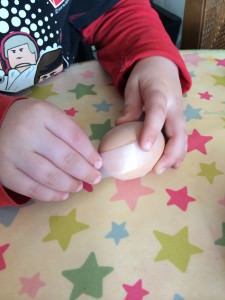 decorating Easter eggs 4