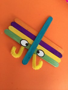 craft stick dragonfly