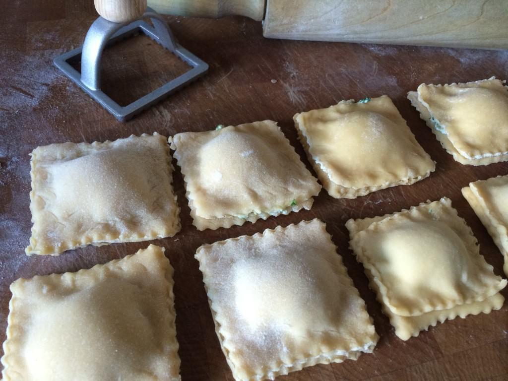 home made ravioli