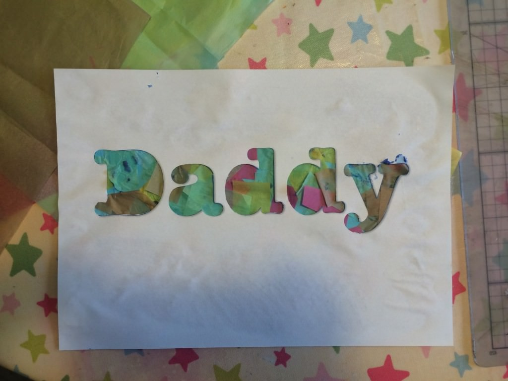 handmade father's day card - the gingerbread house