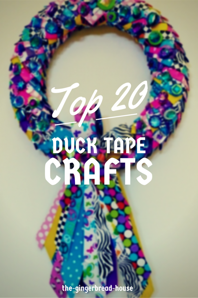 20 duck tape crafts the gingerbread for Duck tape craft ideas