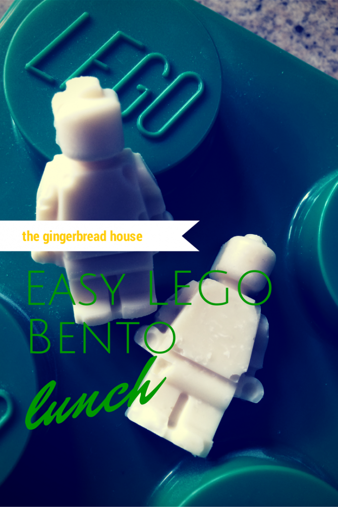 Easy Lego Bento lunch - the gingerbread house