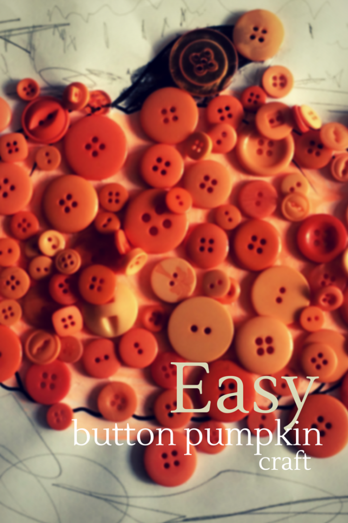 Easy button pumpkin craft - the gingerbread house