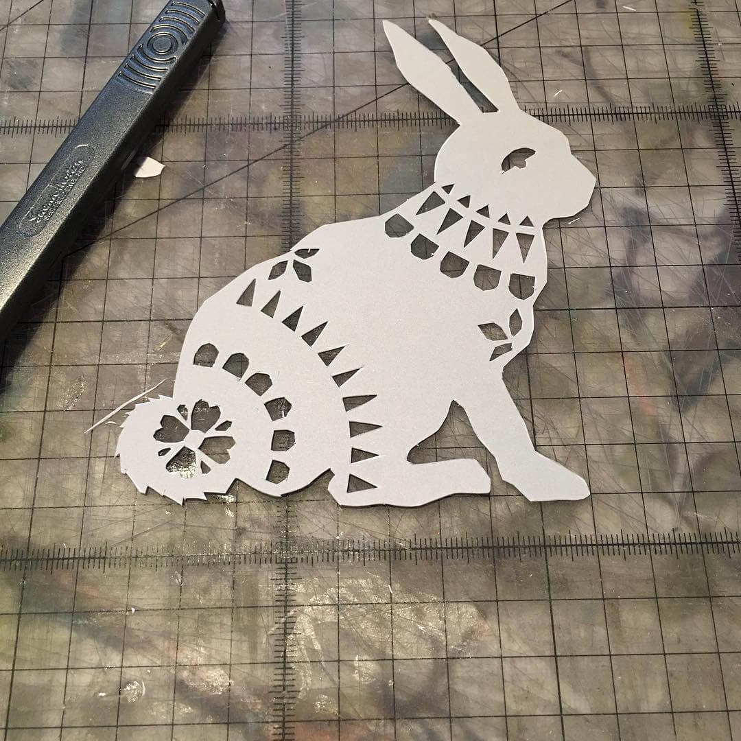Cute little bunny finished too molliemakers papercut crafting Continue readinghellip