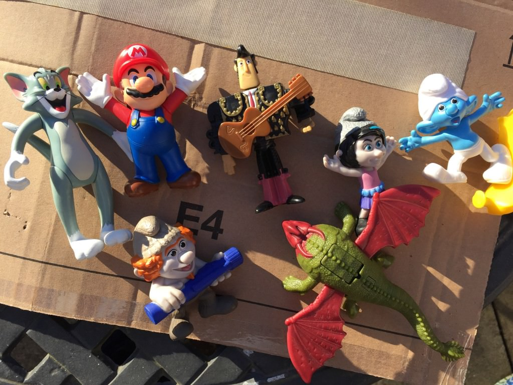 recycled happy meal toys