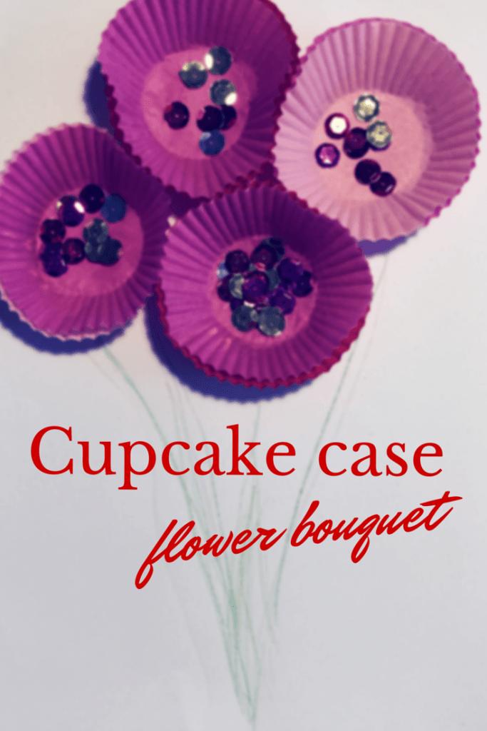 Cupcake case flower bouquet