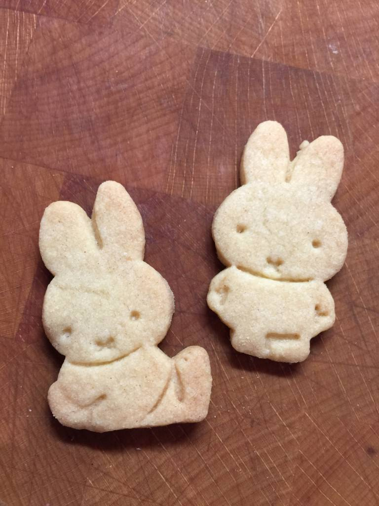 Miffy shaped biscuits