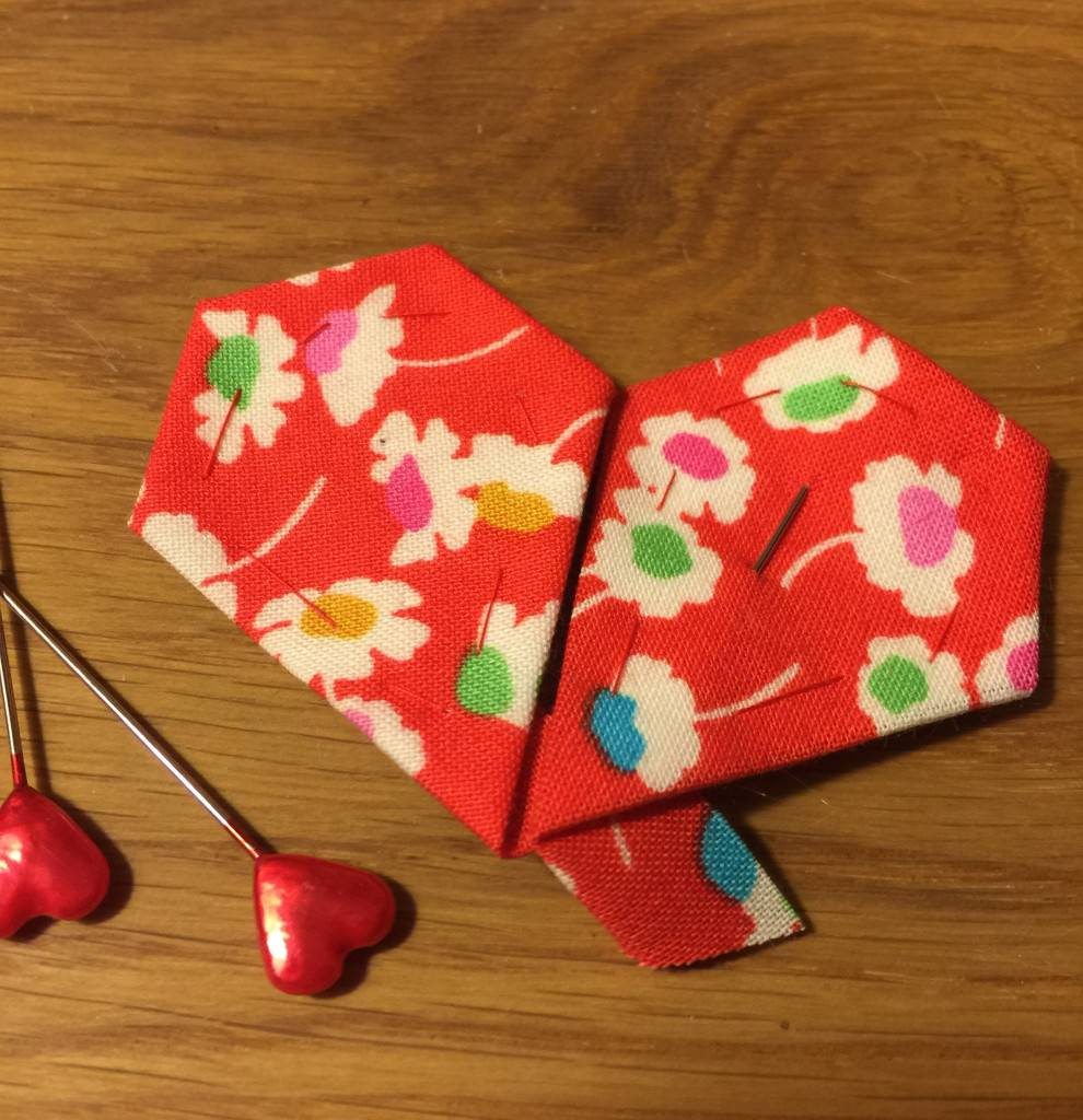 Liberty patchwork heart