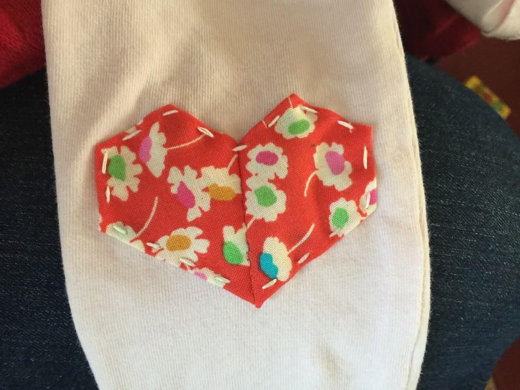 Liberty fabric scrap heart