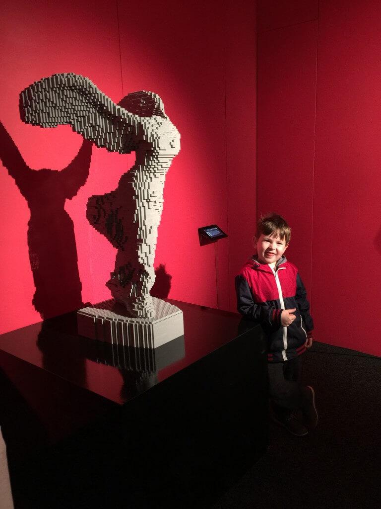 Art of the Brick sculpture