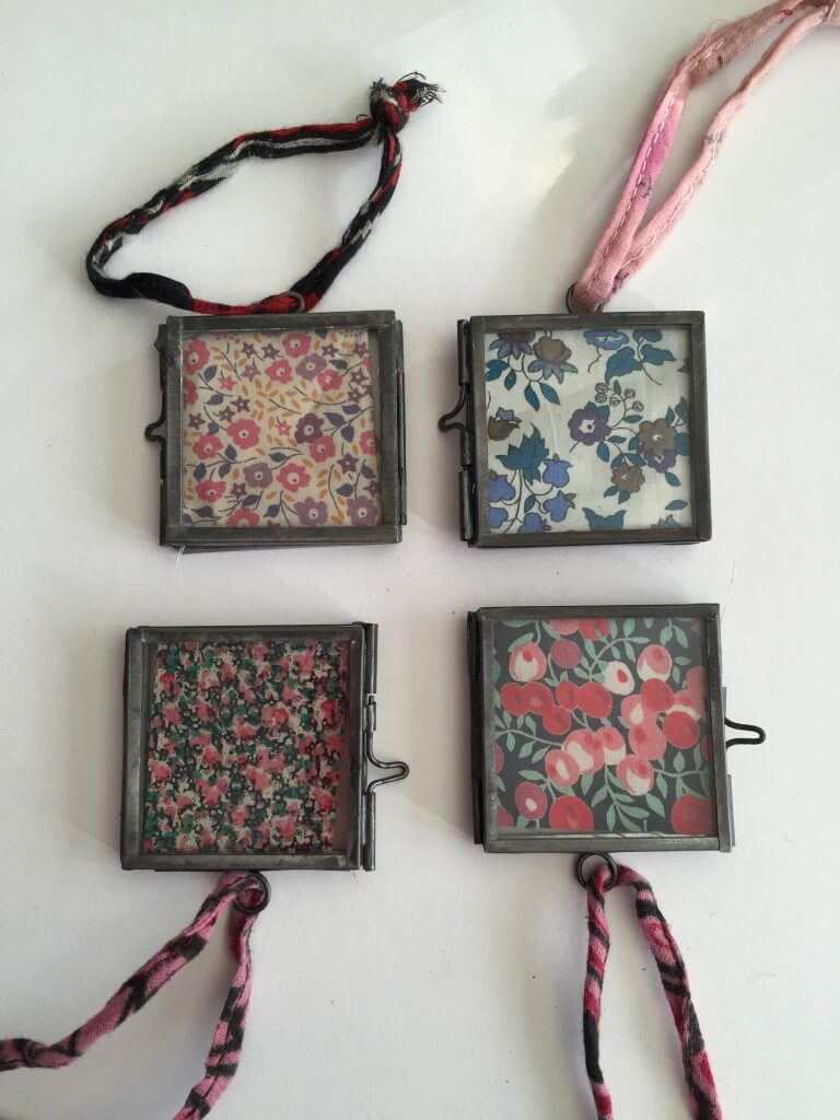 nkuku frames with liberty prints