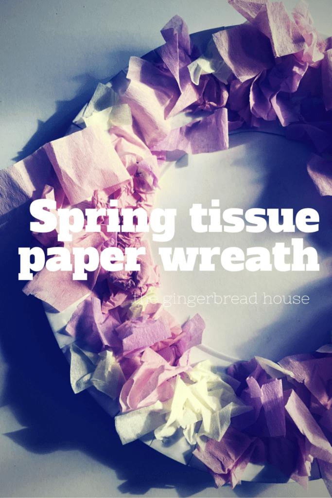 Spring tissue paper wreath