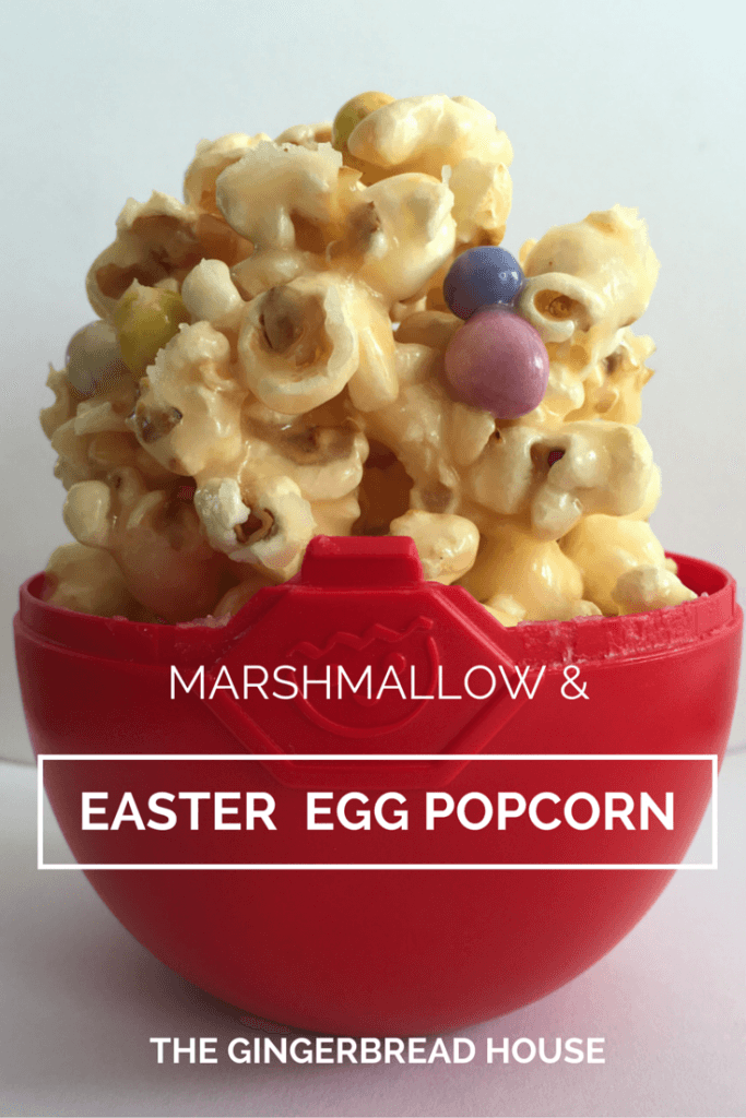 Easter egg and marshmallow popcorn