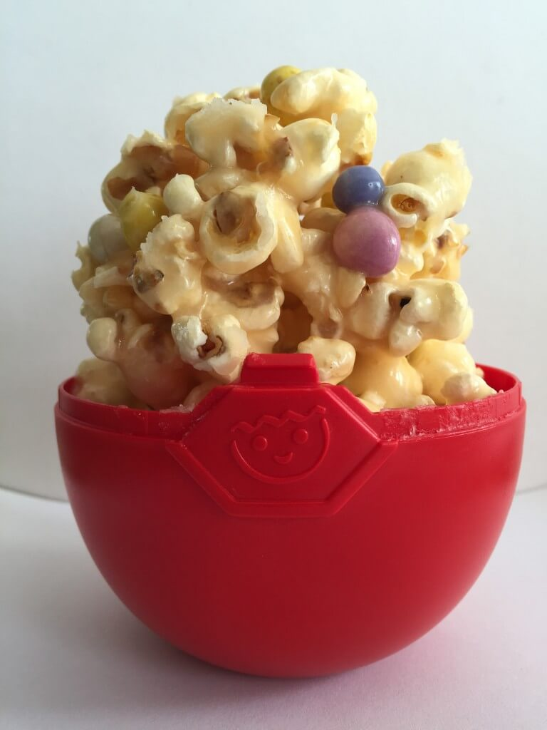 Easter popcorn in a Playmobil egg