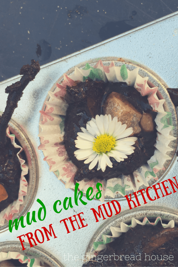 Making Mud Cakes In Our Mud Kitchen The Gingerbread
