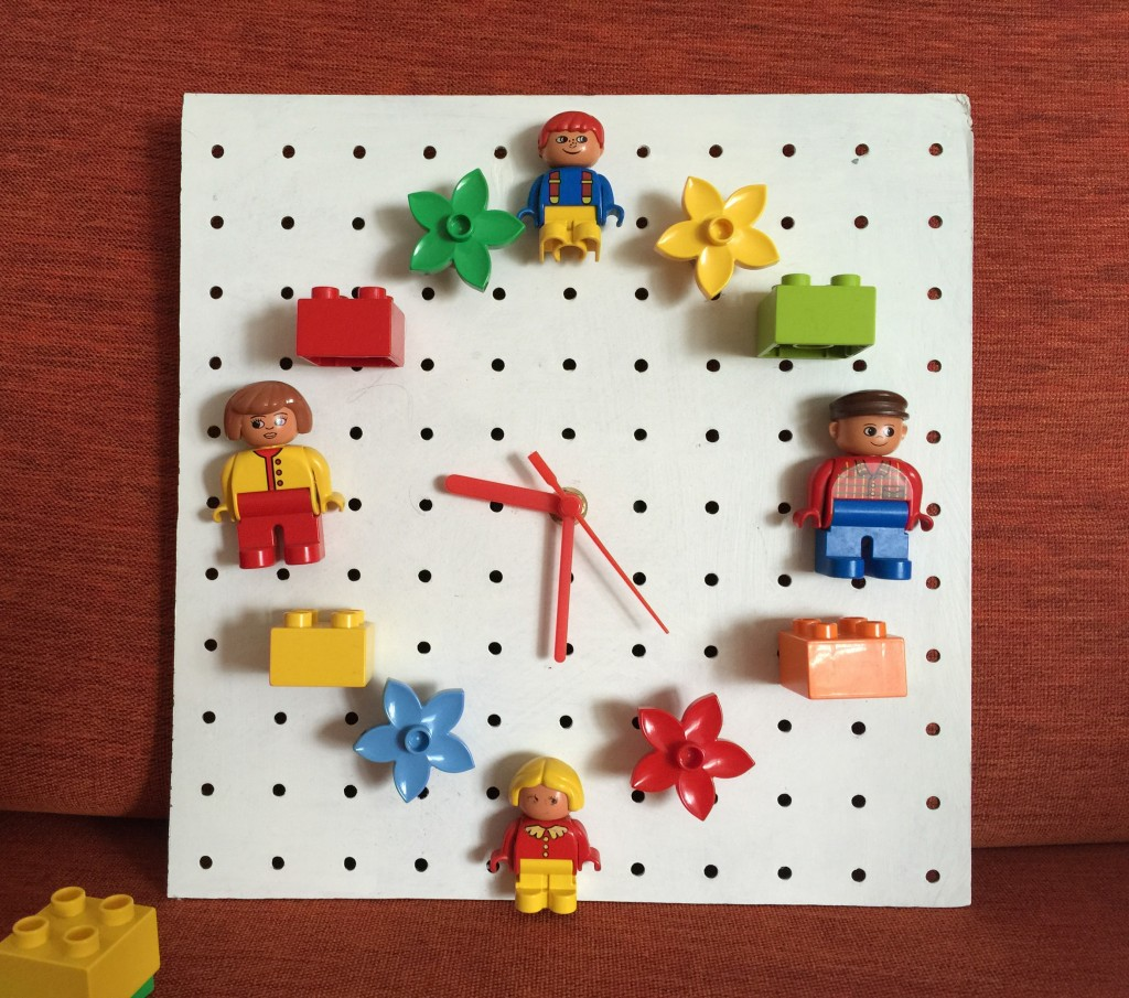 how to make a lego clock for kids - the gingerbread house