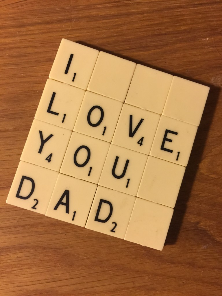 Fathers Day Scrabble Tile coaster