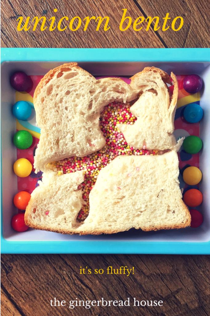 unicorn bento - the gingerbread house