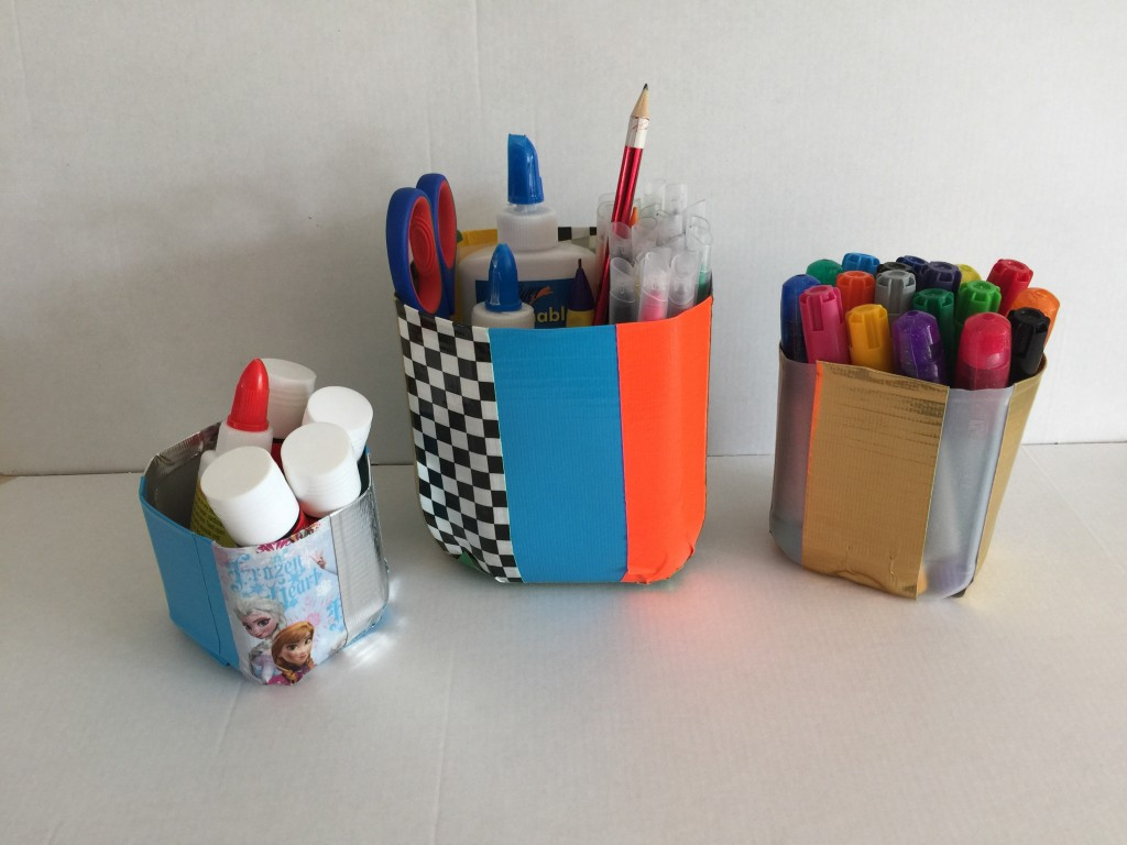duck tape containers