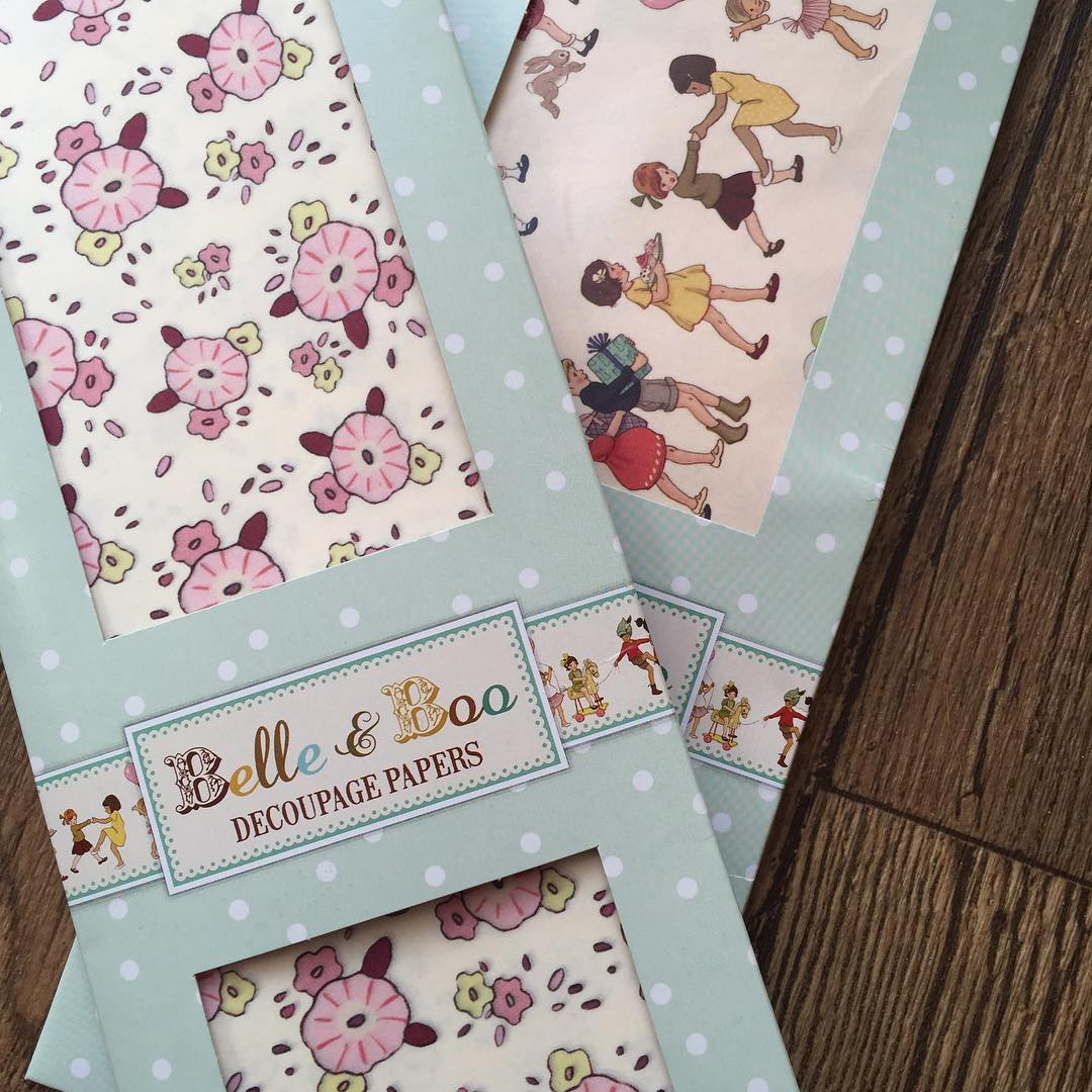 I liked these belleandboo decoupage papers so much I boughthellip