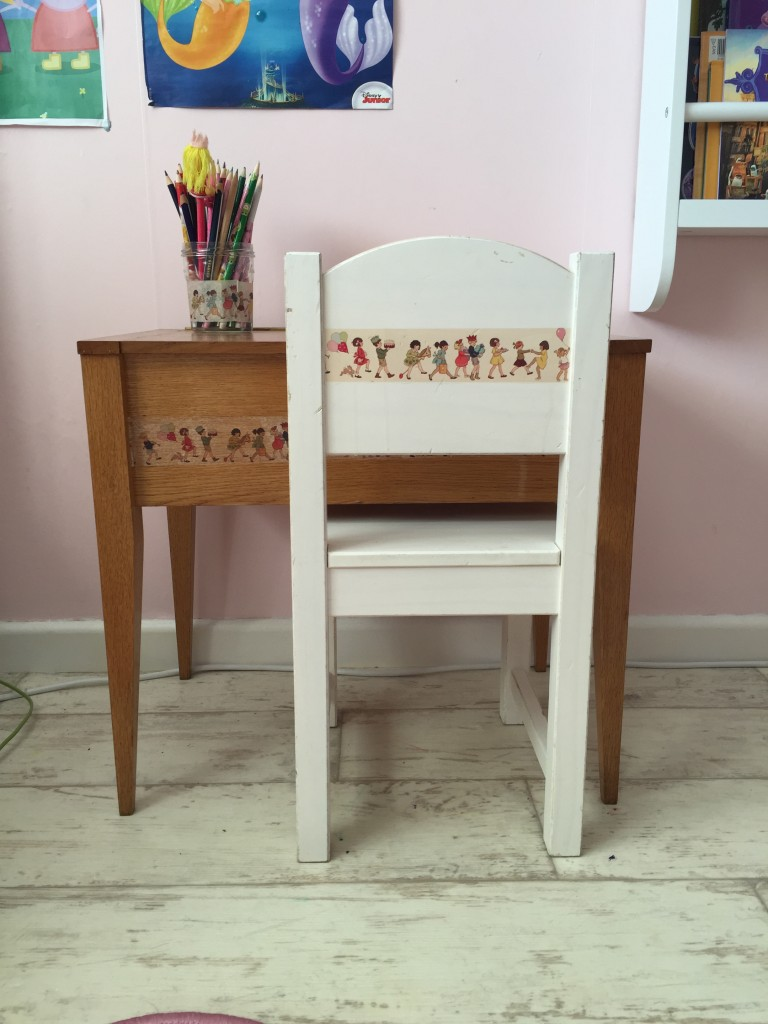 Vintage sewing table makeover