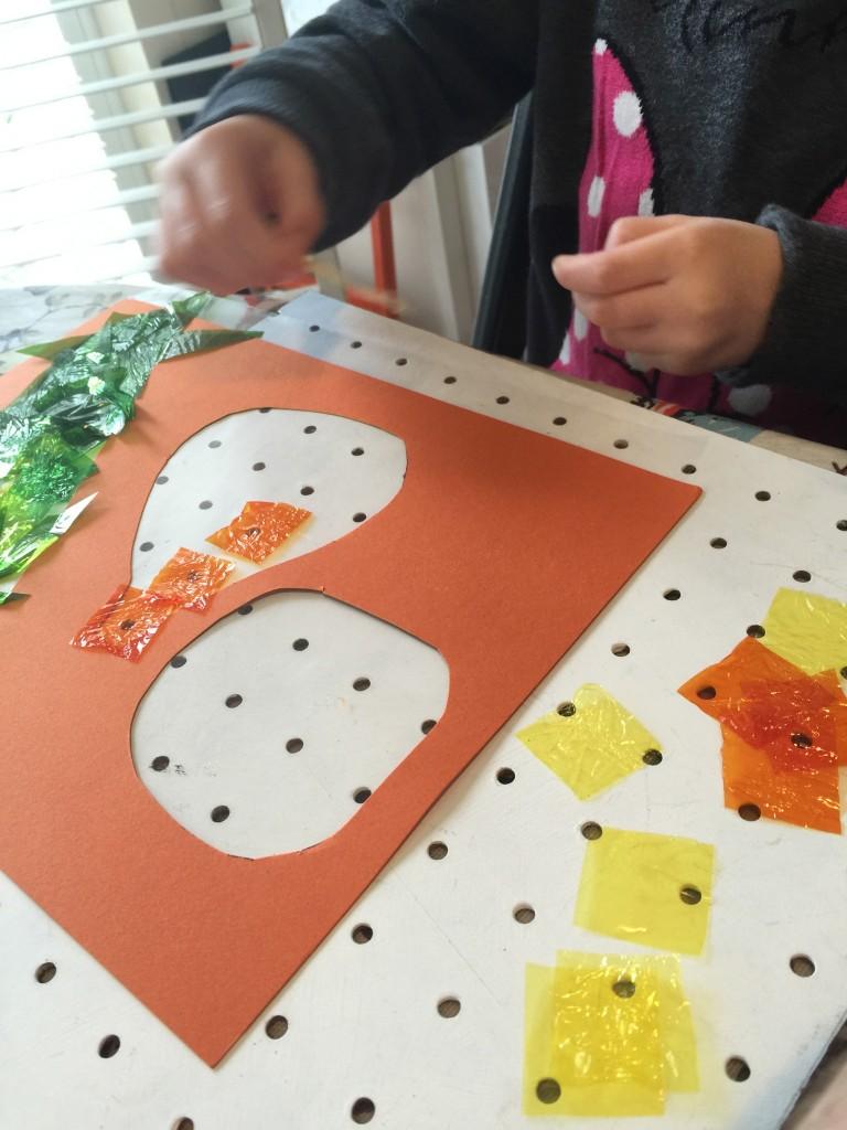 Pumpkin and gourd sun catcher decorations
