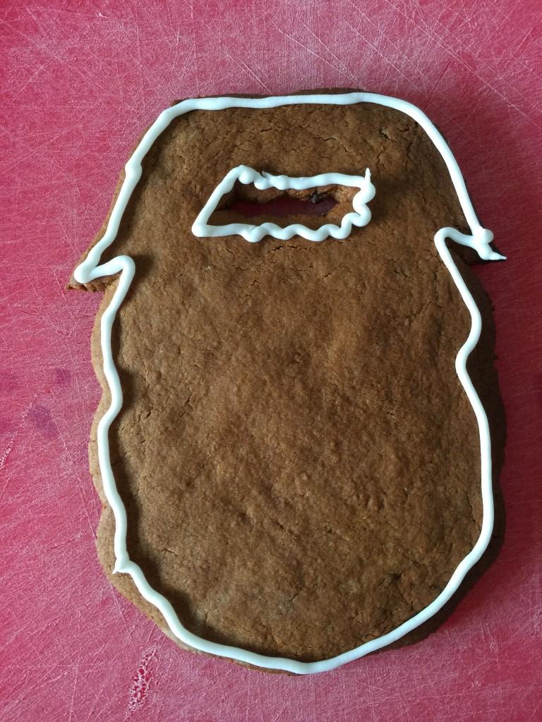Mr Twits gingerbeard biscuit