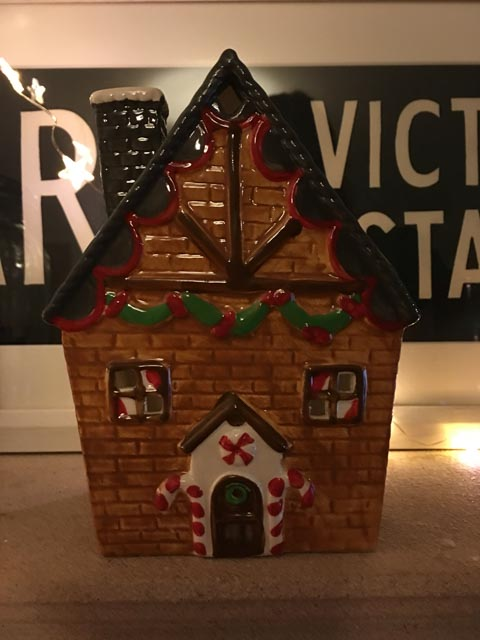 gingerbread house tea light holder from Asda