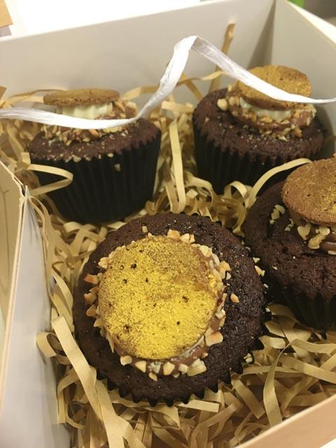 Hazlenut Roche Cupcakes