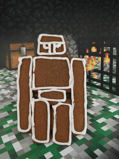 gingerbread iron golem cookie
