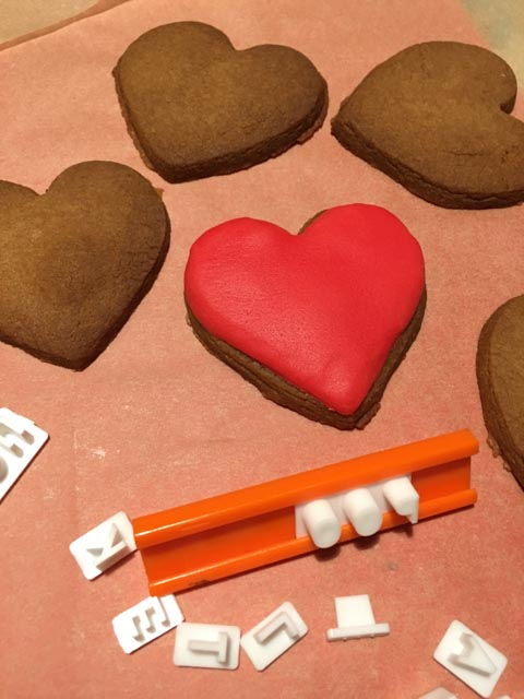 heart shaped gingerbread biscuits