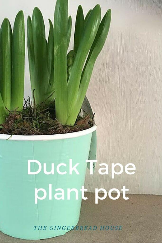 Duck Tape plant pot