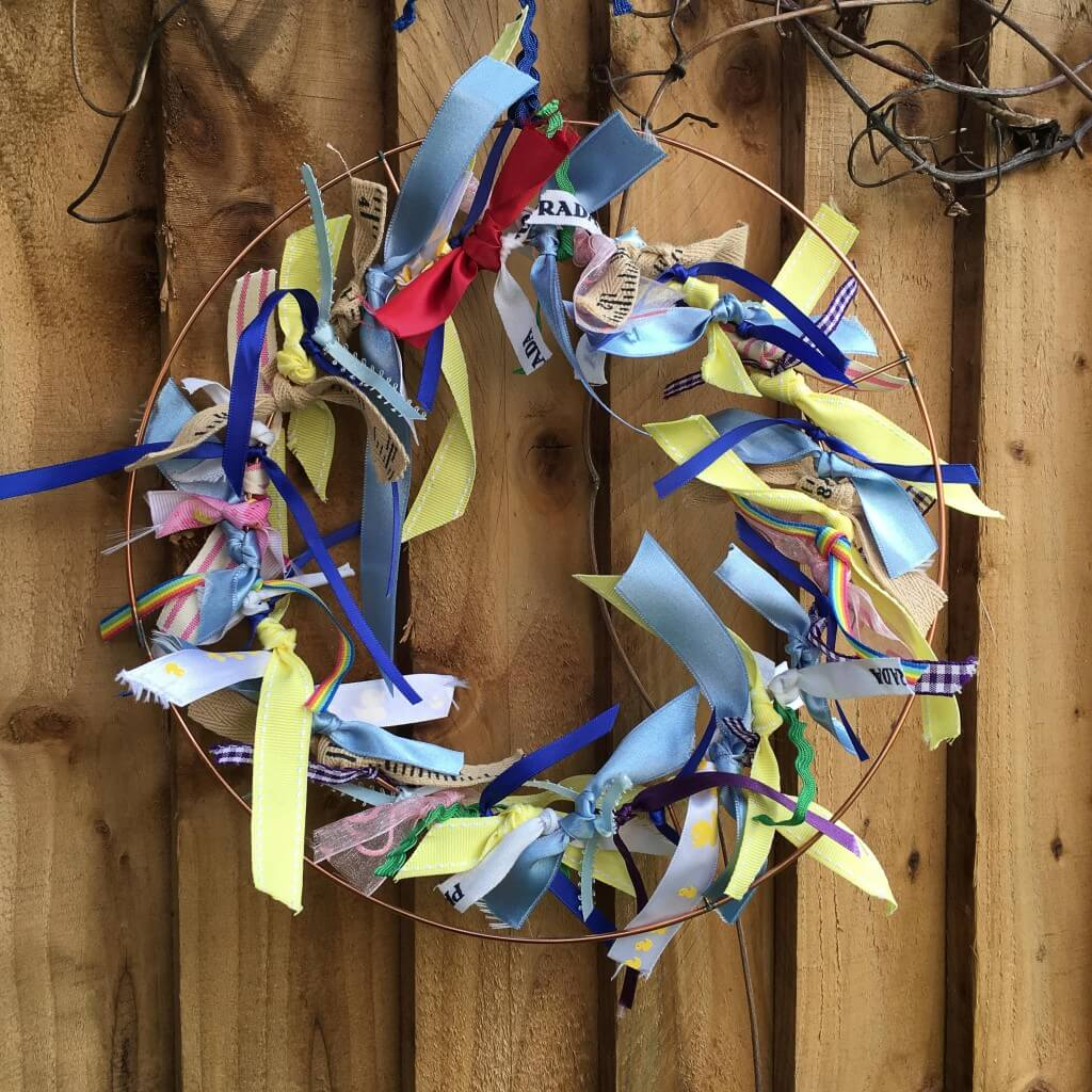 simple ribbon wreath