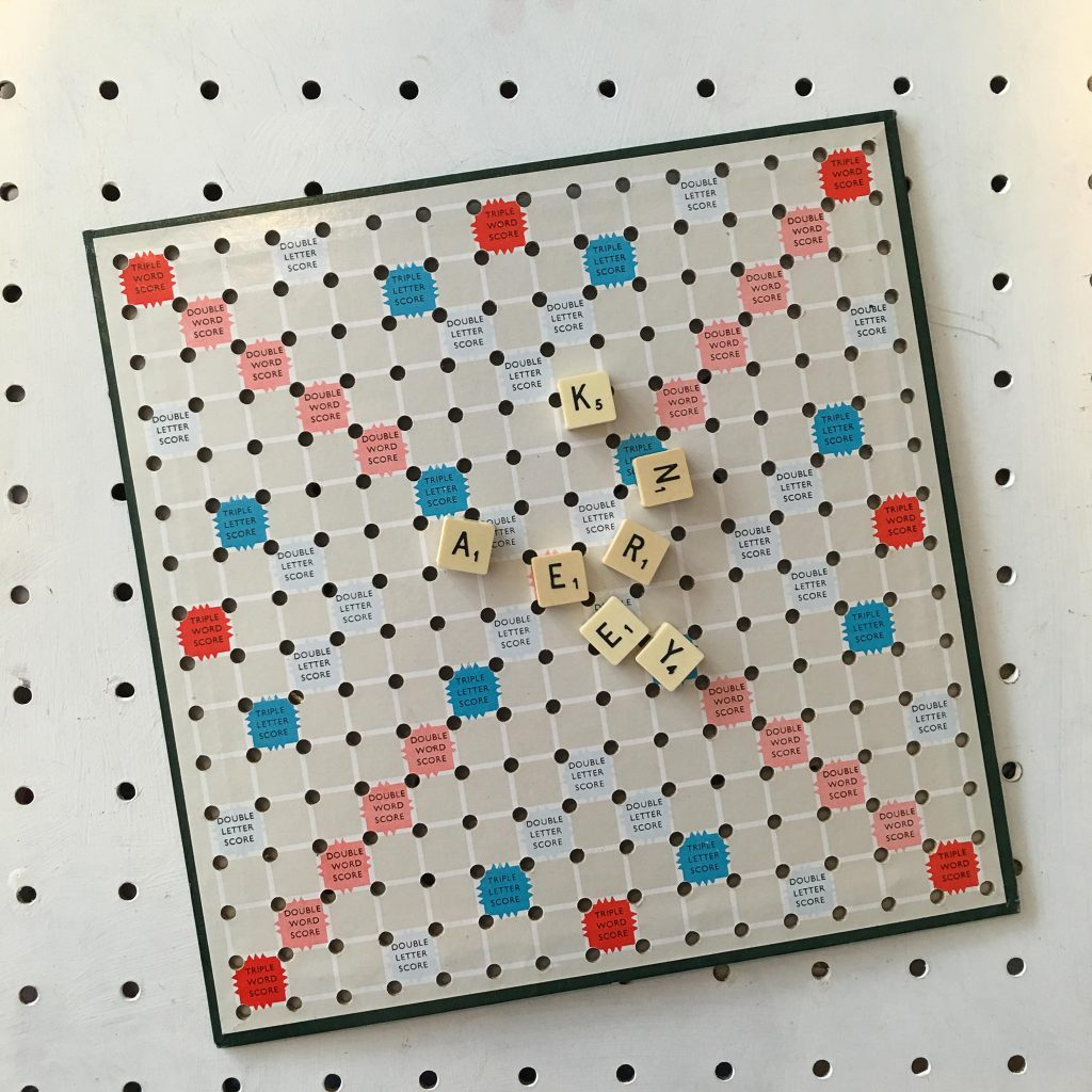 Make your own Scrabble wall art