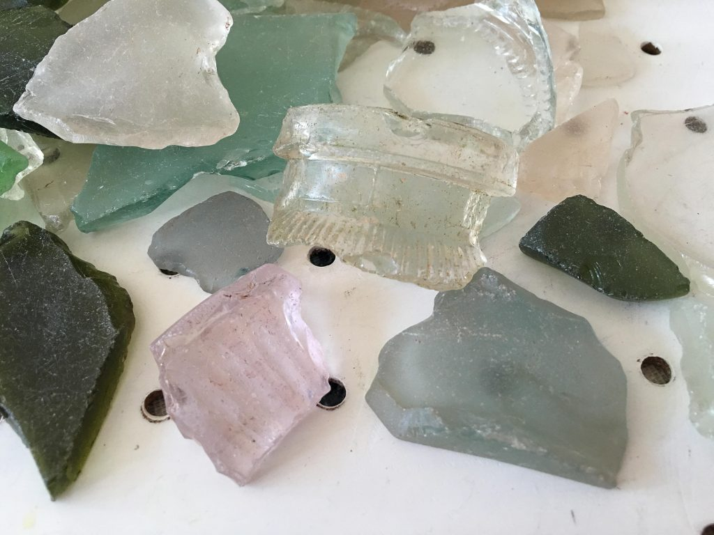 cleaning sea glass