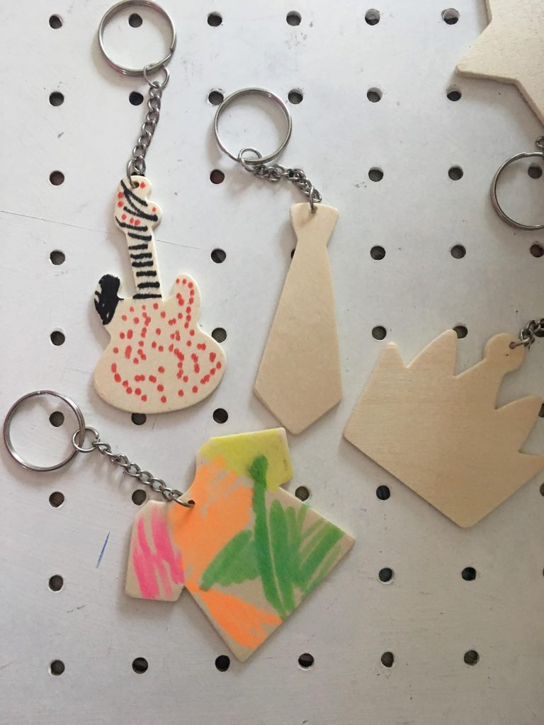 Father's Day Wooden Keyrings from Baker Ross