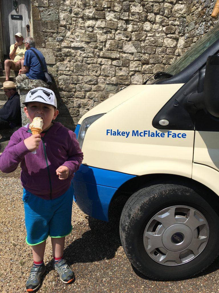 Flakey McFlake Face ice cream van