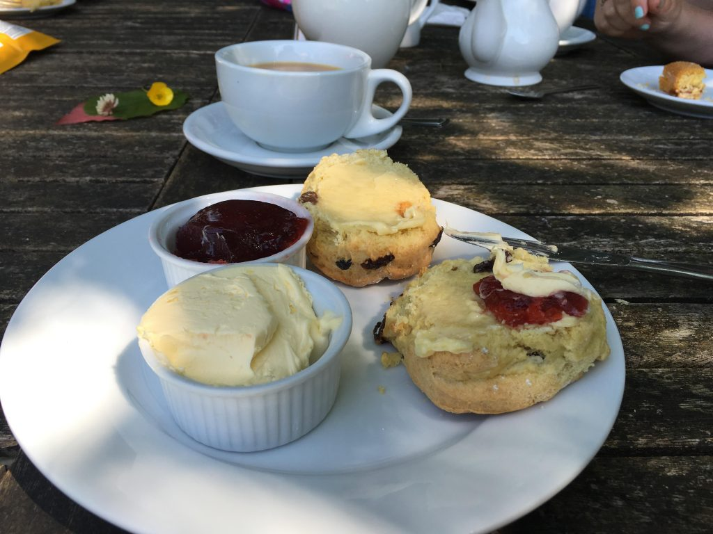 afternoon tea at Quarr Abbey