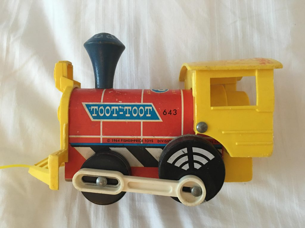 vintage Fisher Price train toy