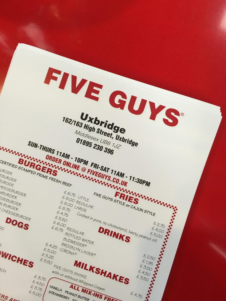 lunch at Five Guys
