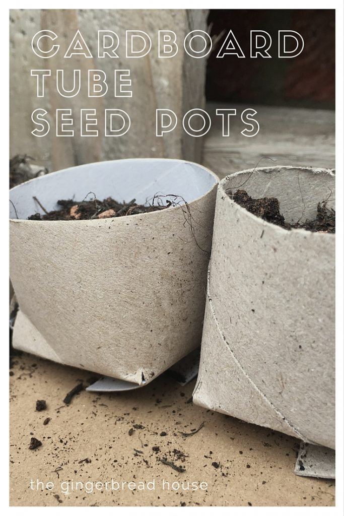 cardboard tube seed pots