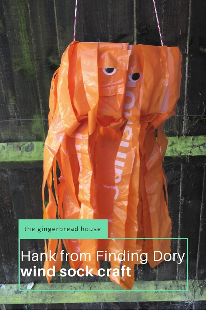 Hank from Finding Dory wind sock craft