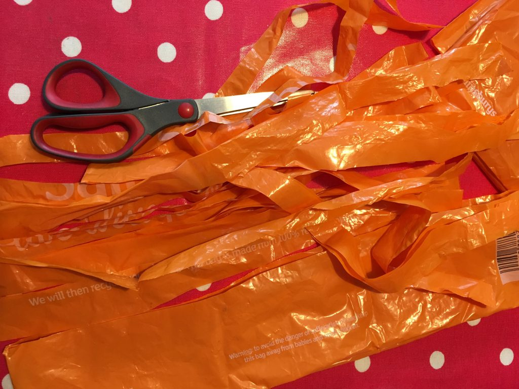 recycled bag wind sock