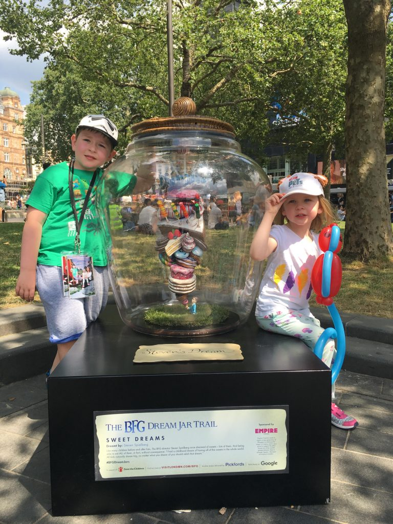 The BFG Dream Jar Trail Leicester Square